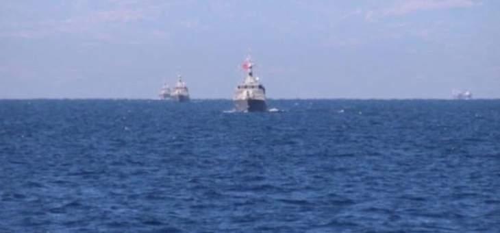 الدفاع التركية: قواتنا البحرية أجرت تدريبات على الرماية والدفاع الجوي في مياه المتوسط