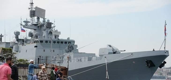 """""""الأميرال إيسن"""" الروسي يرافق المدمرة الأميركية """"بورتر"""" في البحر الأسود"""