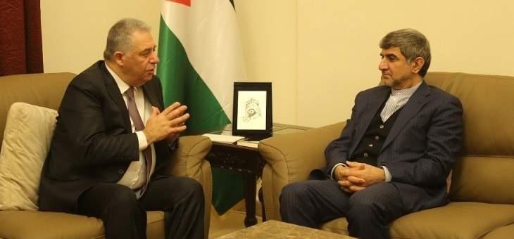 فيروزنيا التقى دبور: إيران ترفض صفقة القرن وتقف إلى جانب القضية الفلسطينية
