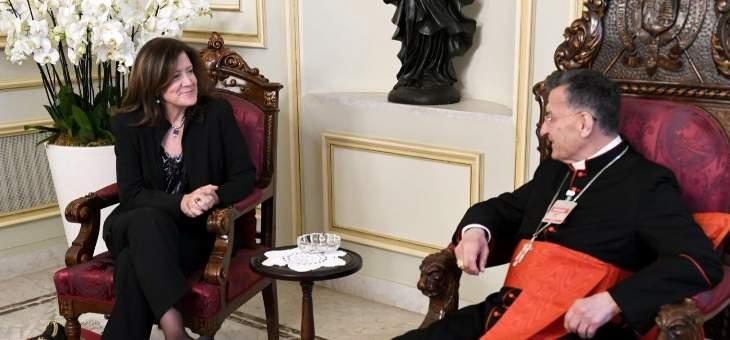 الراعي بحث مع السفيرة الأميركية في لبنان في عدد من المواضيع على الساحة المحلية