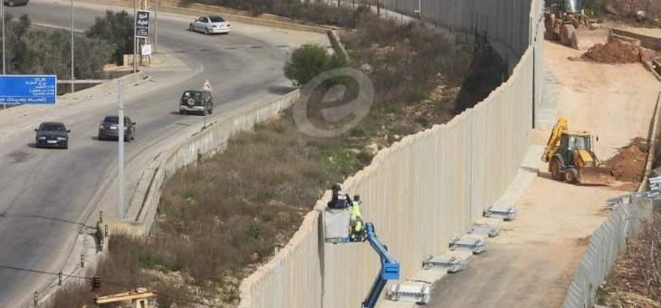 رمي مولوتوف على احدى الكاميرات المثبة على السياج بين لبنان واسرائيل