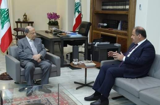 الرئيس عون التقى عربيد وعرض معه الأوضاع الاقتصادية في البلاد