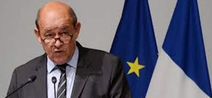 وصول وزير الخارجية الفرنسي الى العراق