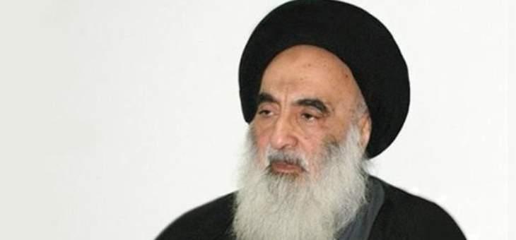 السيستاني اكد مساندته القاطعة للشعب الفلسطيني الأبيّ في مقاومته الباسلة للمحتلين