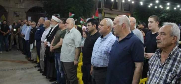 وقفة تضامنية مع الشعب الفلسطيني في صيدا رفضا لصفقة القرن