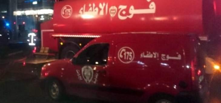 اطفاء بيروت اخمد حريقا اندلع في شرفة احد المنازل في الطريق الجديدة بسب تخزين ماجة البنزين