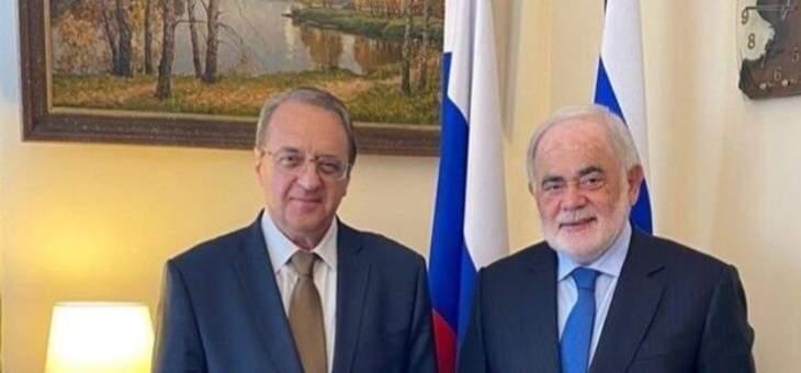 بوغدانوف التقى أبو زيد وبحث مع التطوّرات في لبنان