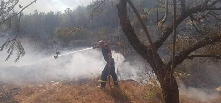 اندلاع حريق في محيط موقع القرن قبالة بلدة كفرشوبا