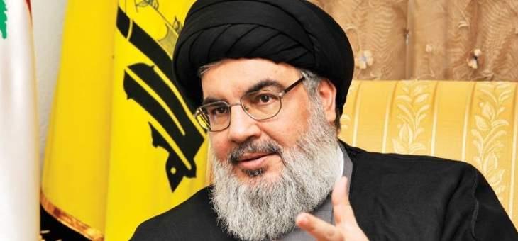 نصرالله: الاميركيون لا يستطيعون ان يفرضوا على اللبنانيين شيئاً
