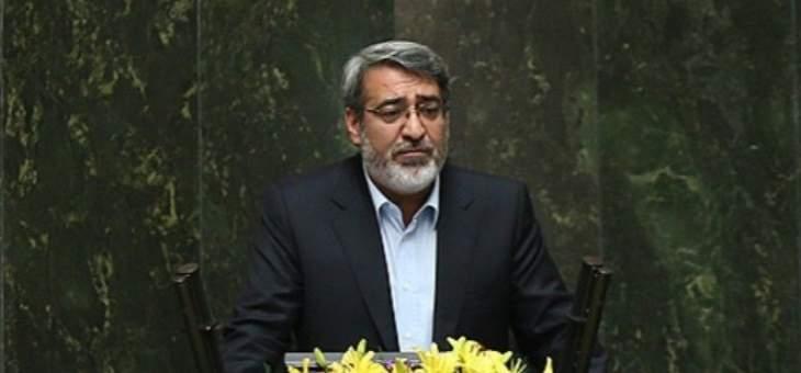وزير داخلية إيران: تحت عنوان الاعتراض على تعديل أسعار البنزين تسببت ممارسات البعض بعدة مشاكل للمواطن