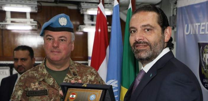 الحريري أكد التزام الحكومة بالقرارين 1701 و2433: أعمل جاهدا على بدء مفاوضات بشأن حدودنا البحرية