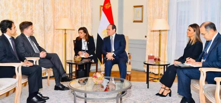 """السيسي يبحث مع """"مرسيدس"""" الألمانية في تطوير النقل الجماعي في مصر"""