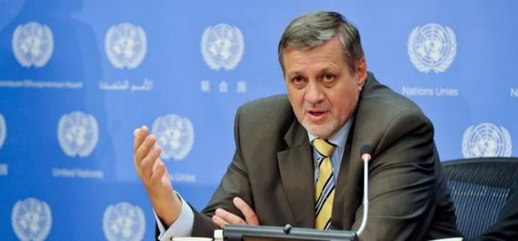 كوبيش: تقدير كبير لحكومة لبنان وشعبه على تقديم الدعم الطويل الأمد للسوريين