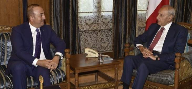 بري استقبل وزير خارجية تركيا ورئيس مجلس القضاء اﻻعلى