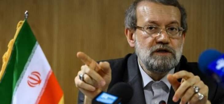 لاريجاني لسليماني: إيران ليست قلقة من الوضع في العراق