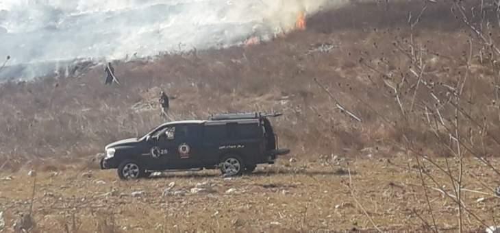 النشرة:اندلاع حريق عند المدخل الشرقي لبلدة ابل السقي قضاء مرجعيون