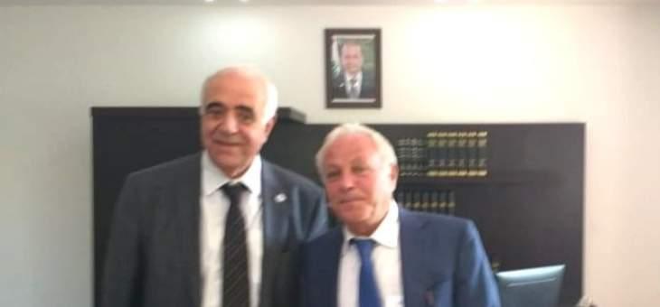 القصيفي التقى القاضي عويدات وهنأه بمناسبة تعيينه بمنصبه الجديد