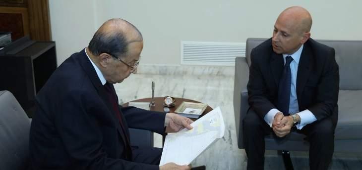 الرئيس عون عرض مع سفير إيطاليا الإجراءات المتابعة لمؤتمر روما 2