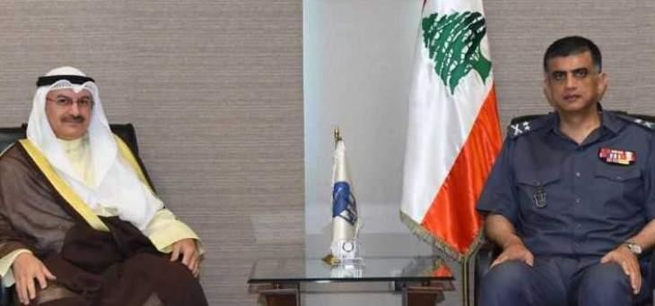 عثمان التقى سفير دولة الكويت في لبنان