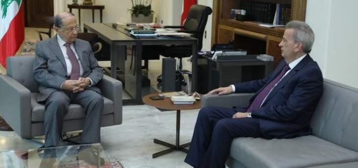 الرئيس عون عرض مع حاكم مصرف لبنان الأوضاع المالية والنقدية في البلاد