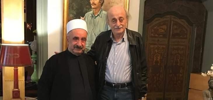 جنبلاط ناعياً الشيخ علي زين الدين: كانت رحلة صداقة شخصية طويلة وجميلة