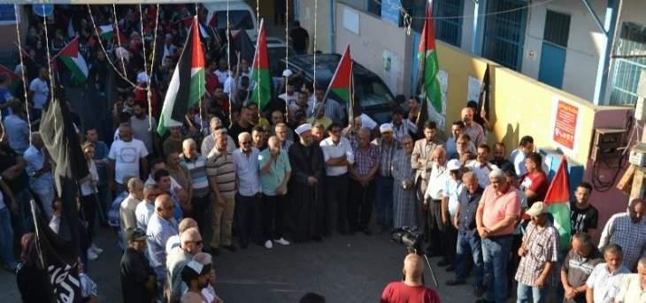 مسيرة لكافة الفصائل الفلسطينية في مخيم البص رفضا لصفقة القرن