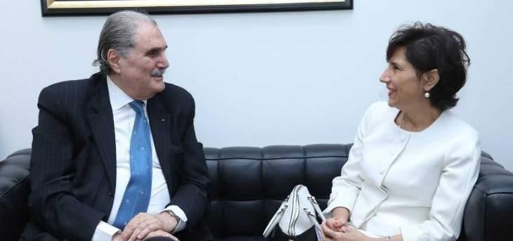 سليم جريصاتي عرض مع مدللي لانعقاد الجمعية العمومية للامم المتحدة