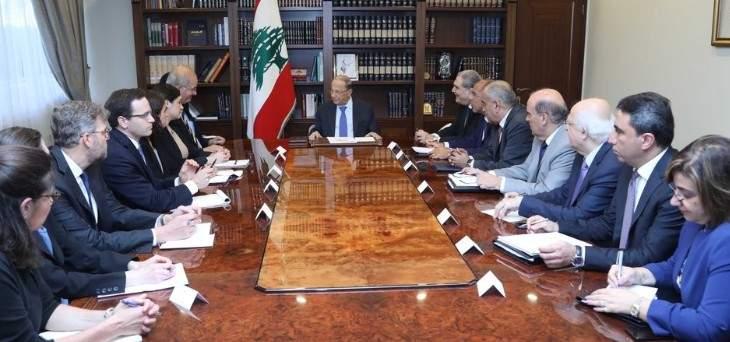 الرئيس عون التقى وفد مجموعة العمل المكلفة دراسة الوضع في سوريا