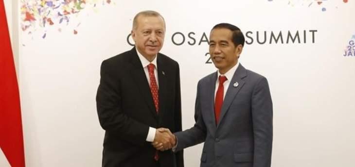 اردوغان التقى نظيره الإندونيسي وميركل وغوتيريس وماي على هامش قمة العشرين