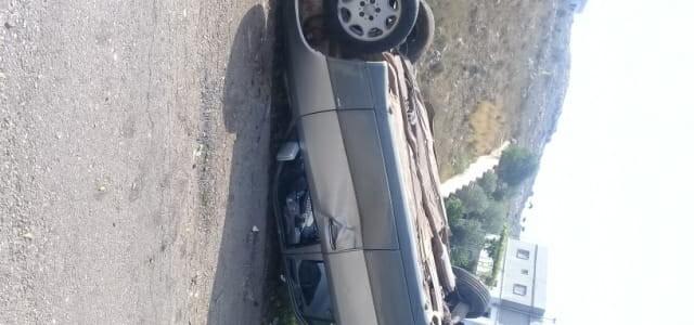 ع شاردا النشرة: اصابة شاب نتيجة تدهور سيارته بين بلدتي يحمر وارنون