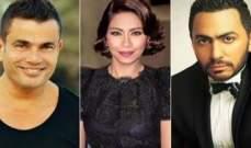 عمرو دياب وتامر حسني وشيرين عبد الوهاب النجوم المصريين الاكثر تأثيراً