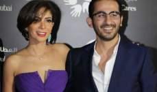 أحمد حلمي يحتفل بنجاح زوجته منى زكي