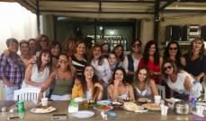 خاص الفن وبالصور- منى طايع تحتفل بعيد إلسي فرنيني بحضور ممثلات وصديقات