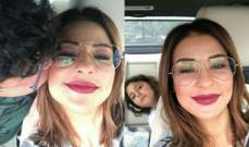 ماغي بو غصن برفقة أولادها في السيارة...بالصورة