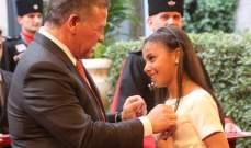 الملك الأردني يكرّم نجمة Arabs Got Talent
