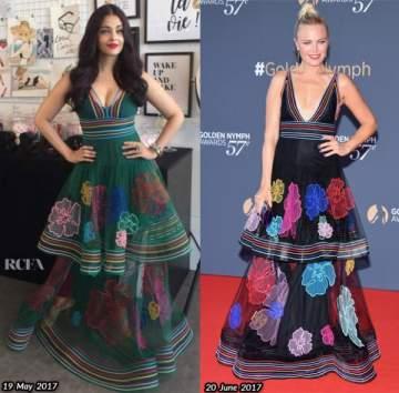 من بدت أفضل بهذا الفستان..أيشواريا راي أم مالين أكرمان؟