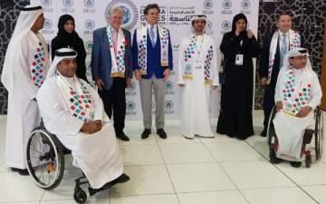 حسين فهمي يشارك في افتتاح الأولمبياد الخاص  في الإمارات..بالصور