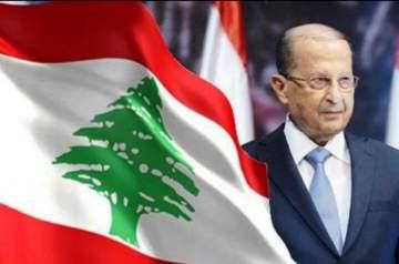 عامر زيان وزين العمر ونزار فرنسيس يعايدون الرئيس عون