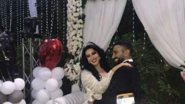 التعليق الأول لـ سمية الخشاب بعد زواجها من أحمد سعد.. بالصورة