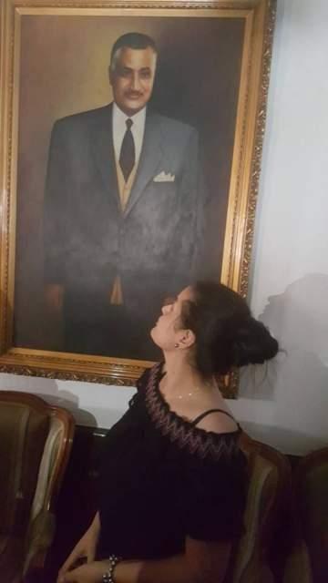 سما المصري تزور ضريح جمال عبد الناصر وهكذا ردّت على الإعتراضات