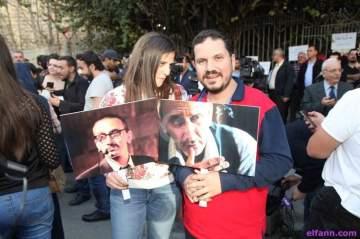 خاص بالصور: أصدقاء زياد الرحباني يعتصمون وغياب كامل للفنانين