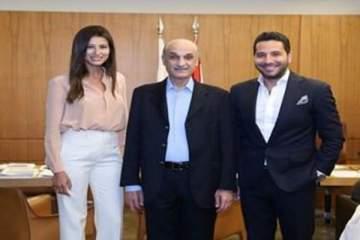 وسام بريدي وريم السعيدي في معراب ولهذا السبب التقيا جعجع..بالصور