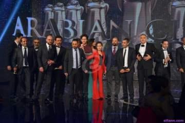 خاص بالصور- حضور كثيف من النجوم في حفل توزيع جوائز السينما العربية