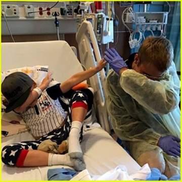 جاستين بيبر يزور مستشفى في كاليفورنيا!