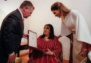 خاص بالصور -تكريم سميرة توفيق بمنحها وسام الملك عبد الله الثاني للتميز