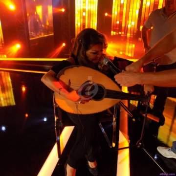 خاص بالصورة - فلّة تعزف أمام مروان خوري وصبحي توفيق