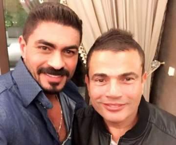 صورة تنفي وجود خلاف بين عمرو دياب وخالد سليم