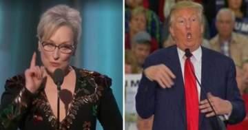 دونالد ترامب يرد على مهاجمة ميريل ستريب له