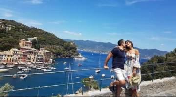 إيميه صياح تعيش لحظات رومانسية مع زوجها في إيطاليا.. بالصورة