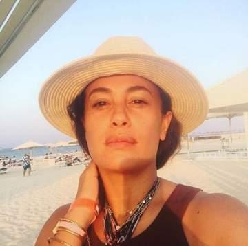 هند صبري في جلسة تصوير جديدة على شاطئ البحر..بالصور